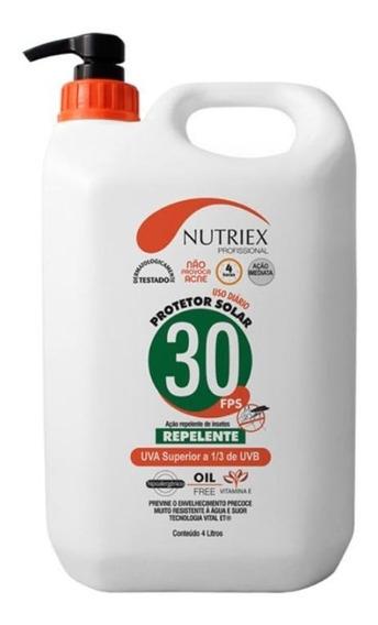 Protetor Bloquedor Solar C/ Repelente Fps30 4 Litros Nutriex