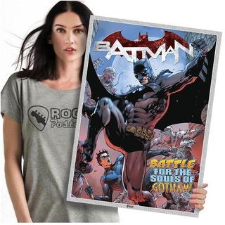 Quadro Heróis Da Marvel Batman Poster Grande 60x42cm 06