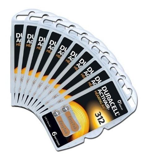60 Baterias Aparelho Auditivo Da312 / Pr41 - Duracell