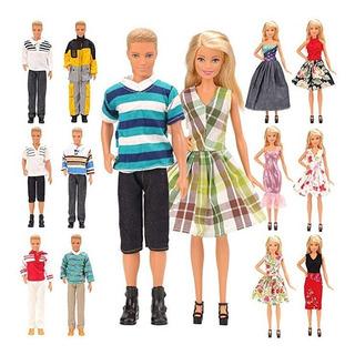 Mylass Lot 15 Artículos Ken Y Barbie Doll Eu Ce-en71 Certifi