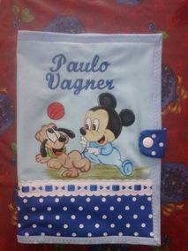 Capa Caderneta Vacina,tecido Lavável,bordados,personalizados