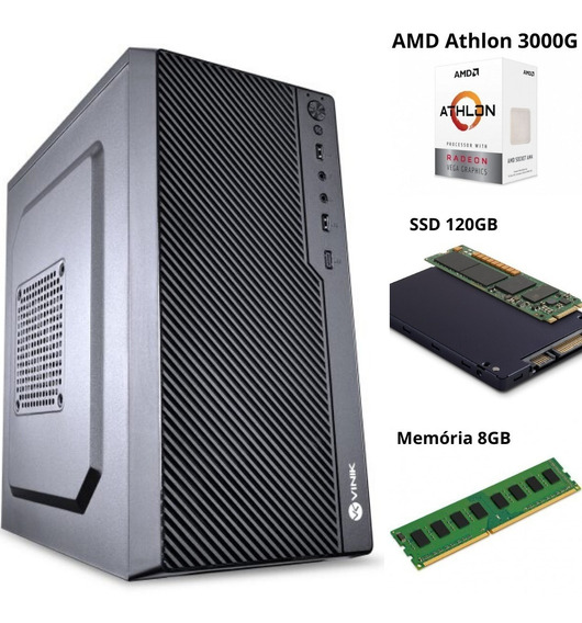 Pc Gamer Viph Amd 3000g/8gb/ssd 120gb