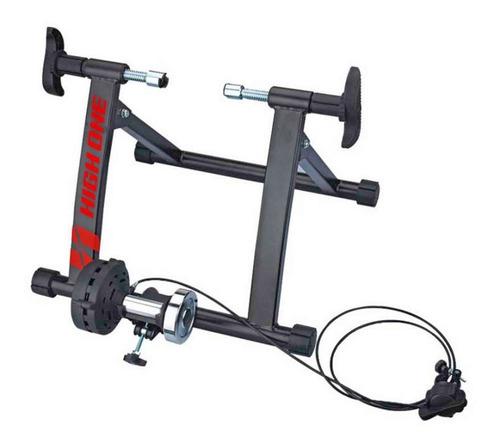 Imagem 1 de 3 de Rolo Treino Bicicleta Ciclismo High One Em Aço Com 5 Ajustes
