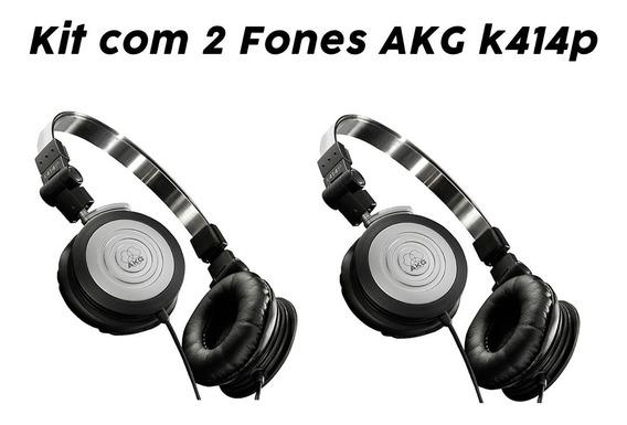 Kit 2 Fones Ouvido Profissional Compacto K414p Akg Original