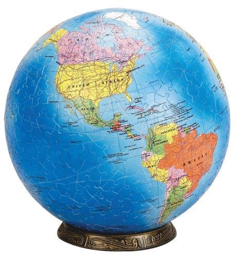 Esphera 360 9 540 Piezas Globo Mundial Mapa Político Mega Br