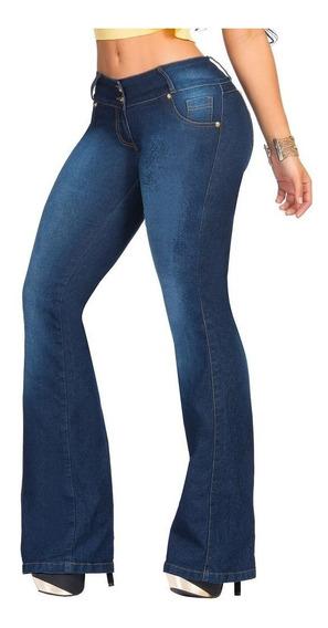Jeans Mujer Modelador Semi Oxford Talle Grande 48 Al 60