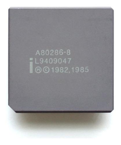 Microprocesador Retro Vintage 286 Intel 10 Mhz 1982 Funca