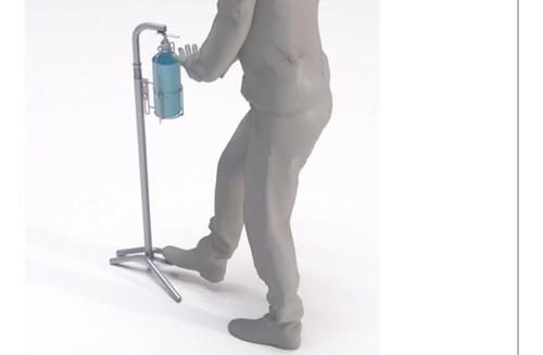 Dispensador De Gel Antibacterial Vertical