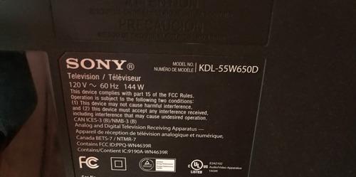 Imagen 1 de 4 de Tv Smart 55 Pulgadas Sony Kld55w650d Pantalla Rota