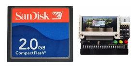 Cartão Memória Compact Flash Sandisk Cf 2gb E Adaptador Ide