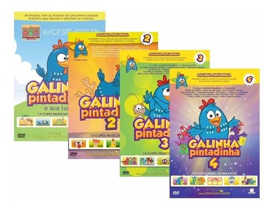 Cd Músicas Galinha Pintadinha Volume 1, 2, 3, 4 São 4 Cd