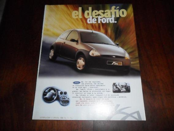 Publicidad 1996 Automovil Ford Ka El Desafio