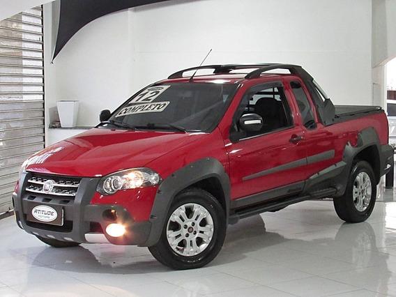 Fiat Strada 1.8 16v Adventure Ce 2012 Vermelho Completo