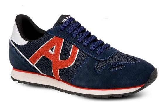 Tenis Masculino Armani Jeans Jogging Original Confortável