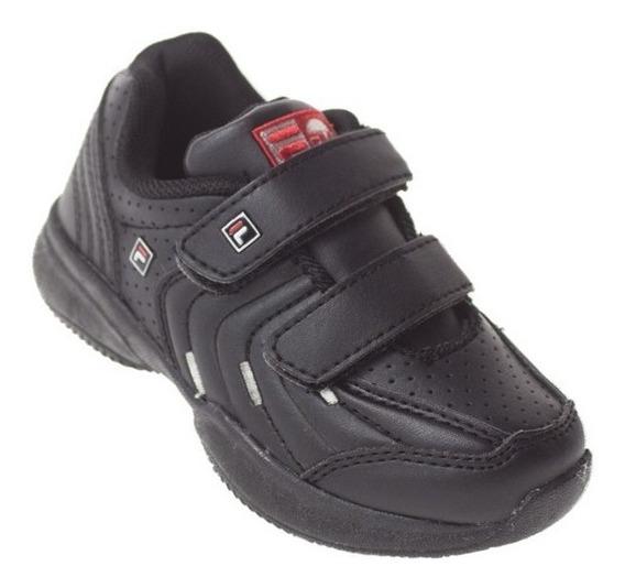 Zapatillas Fila Lugano Velcro Baby Niños Chicos Junior Deportivas Urbanas - Estacion Deportes Olivos