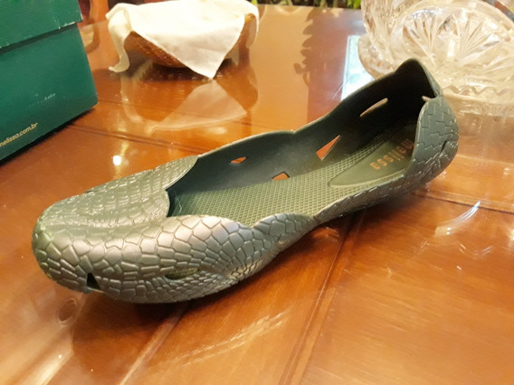 Chatitas Melissa Importados Brasil N 40 Verde Reptil