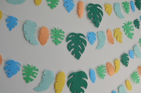 Kit Guirnaldas Ambientación Hojas Tropicales Temática