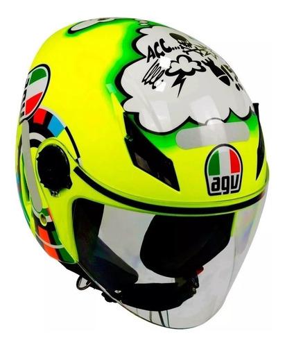 Capacete Agv Blade Aberto Misano Valentino Rossi 46 Dragon Racing Motos
