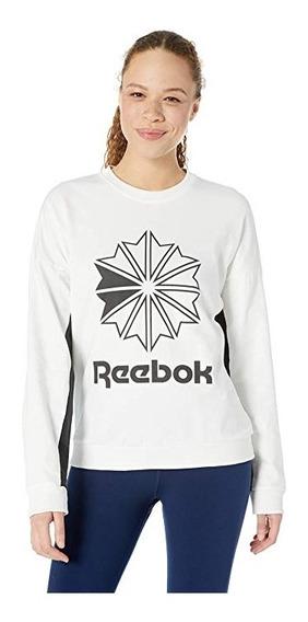 Sudadera Reebok Big Logo Blanca Mediana Mujer