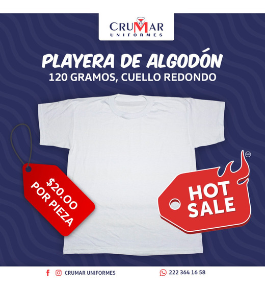 Hot Sale Playera Algodón 120 Gramos
