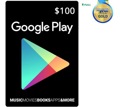 Imagen 1 de 1 de Tarjeta Google Play De 100 Pesos 100% Confiable