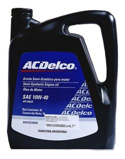 Aceite Acdelco Semisintetico 10w40 4 Lt Chevrolet Api Sn/cf