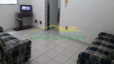 Apartamento 01 Dormitório Mobiliado No Canto Do Forte, Só Na Imobiliária Em Praia Grande. - Mp12393