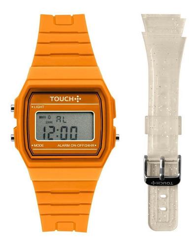 Relógio Unissex Touch Touch Laranja - Original