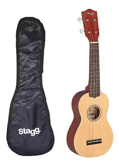 Ukelele Soprano Stagg Us60 De Caoba Y Cedro