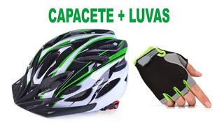 Capacete Bike Bicicleta Ciclismo Modelo Mtb + Par De Luvas