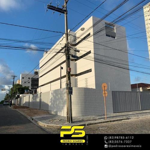 (oportunidade)  Apartamento Com 2 Dormitórios À Venda, 67 M² Por R$ 225.000 - Estados - João Pessoa/pb - Ap4243