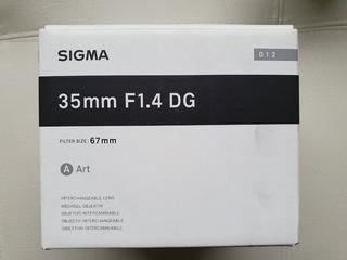 Sigma 35mm F1.4 Lente Hsm Arte Dg Para Canon