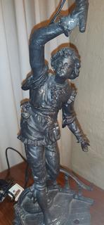 Antigua Escultura En Peltre