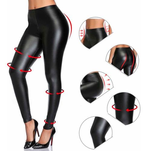 Leggings Cuerina  Pantalon Cuero Sintético Moldea Tu Figura