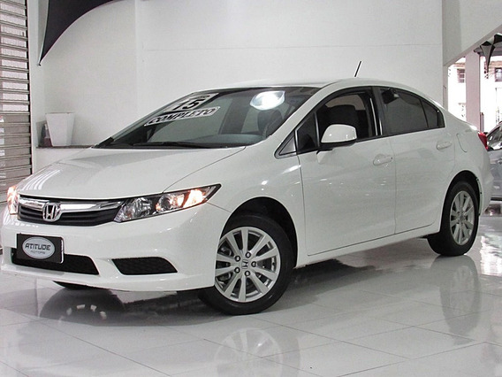 Honda Civic 1.8 Lxs 16v Flex 4p Manual 2015 Branco