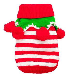 Mascota Perro Gato Ropa De Navidad De Punto Suéter De La