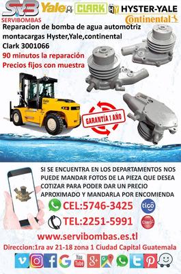 Bombas De Agua Montacargas Continental Clark Guatemala