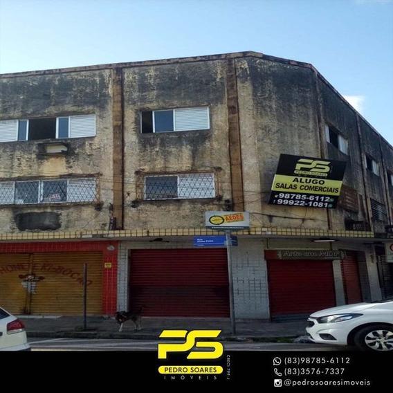 Salão Para Alugar, 220 M² Por R$ 1.200/mês - Centro - João Pessoa/pb - Sl0001