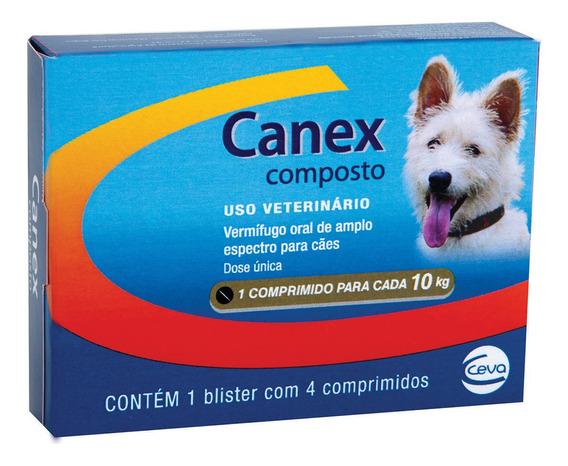 Vermífugo Ceva Canex Composto Com 4 Comprimidos