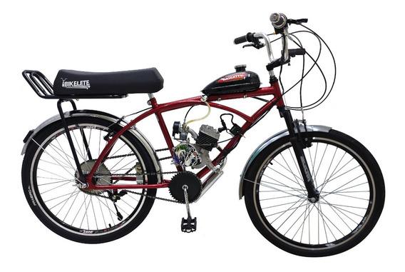 Bicicleta Motorizada 80cc Caiçara Banco Xr 160kg + Brinde