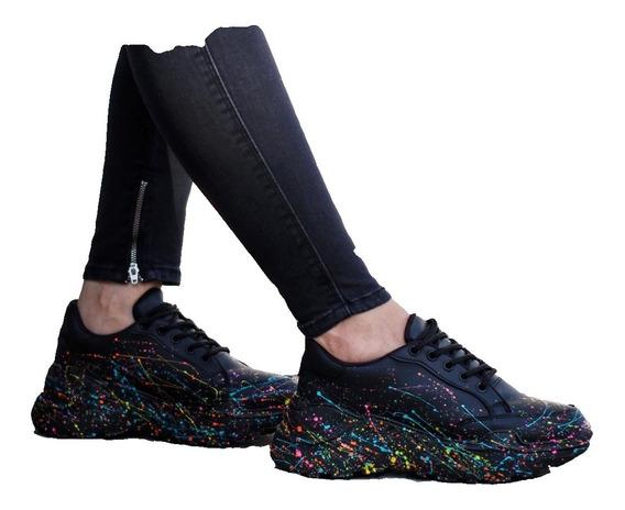 Tenis Zapatillas Plataforma Nueva Moda Para Dama 35/40