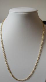 Corrente Elo Portugues 45cm Em Ouro 18k750