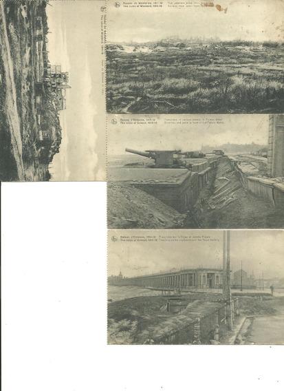 Cuatro Postales 1ra. Guerra Mundial Año 1914/1918