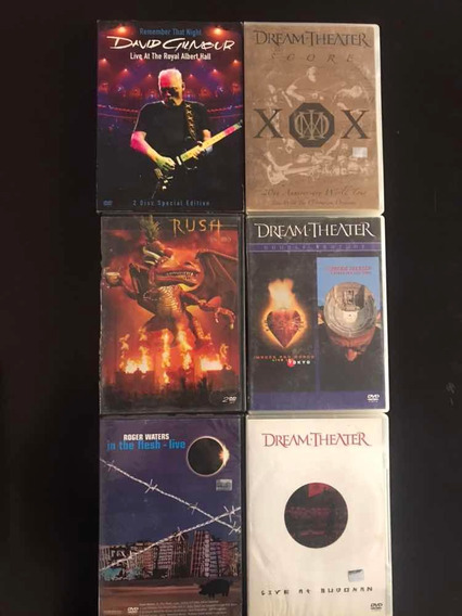 Dvd Pink Floyd Porcupine Tree Flower Kings Dream Theater Y +