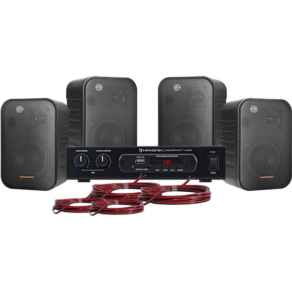 Kit Som Ambiente 400w Usb Hayonik Ambience Bluetooth
