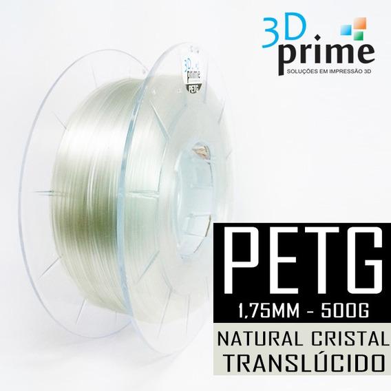 Filamento 3d Prime Petg Natural Translúcido 1,75mm 500g