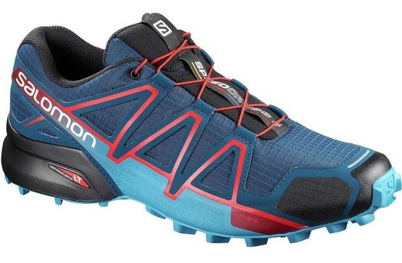 Tênis Salomon Speedcross 4 Masculino Azul/vermelho