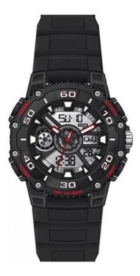 Reloj Q&q By Citizen Sport Negro -rojo De10j803y