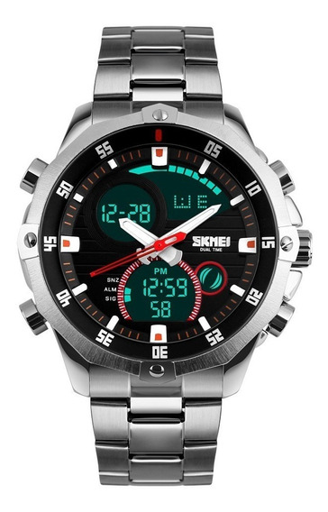Reloj Deportivo Tipo Militar Acero Inoxidable Sumergible 30m