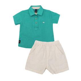 Conjunto Masculino Bebê Camisa E Bermuda